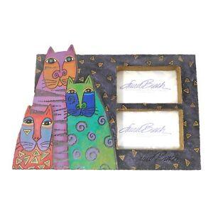 """Laurel Burch Mysticats Cat LB-51042 Picture Frame 10""""x7"""""""