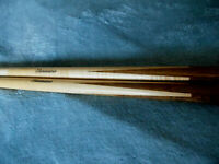 2 each 1 piece Eliminator Maple Billiard/Pool Cue  20, 19 oz Good condition