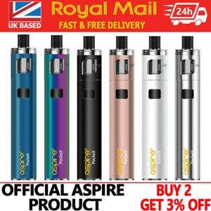 100% Official Aspire PockeX AIO Vape Pen Starter Kit E-Cigarette 1500mAh Battery