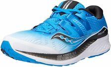 Saucony Men's Ride ISO Running Shoe, White/Black/Blue, 13 2E(W) US