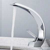cascade salle de bain lavabo robinets lavabo mélangeur chrome en laiton