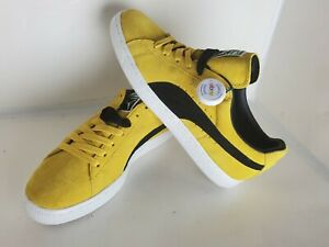 Deadstock Puma Suede Classic vibrant Yellow- Black Men Size 10