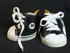 Build A Bear Clothes - Black High Top Sneakers - BABW Gym Shoes Teddy Athletic