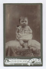 PHOTO ANCIENNE CDV  Bébé Robe Jean Geirland Gand Vers 1900 Rue St Liévin
