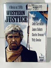 WESTERN JUSTICE, 2007 ISSUE, BRONSON, COBURN, MORE, 4 MOVIES ON 2 DVD's, SEALED