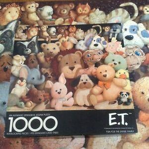 Vtg Springbok Puzzle ET The Extraterrestrial 1000 Piece 1982 Complete 24 x 30