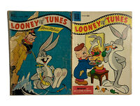 1955 Looney Tunes Comic Book Vintage #125 #167 Bugs Bunny Lot Elmer Fudd