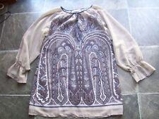 Paisley Long Sleeve Machine Washable Regular Tops & Blouses for Women
