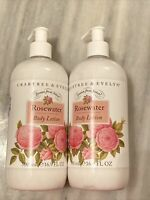 Crabtree & Evelyn Rosewater Body Lotion 16.9 fl oz 500 ml New with Pump Lot of 2