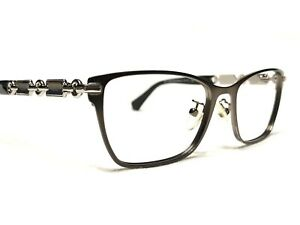 Coach HC5065 9017 Women's Silver Black Cat's Eye Rx Eyeglasses Frames 51/17~135