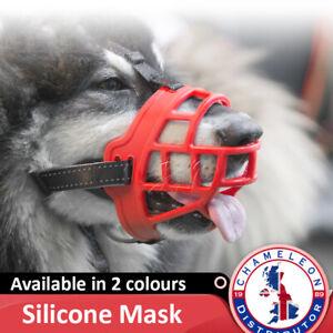 Ultra Padded Silicone Dog Adjustable Muzzle Strong Basket Style 6 Sizes