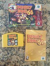 Donkey Kong 64 (Nintendo N64) In Box w/ Cart + Manual Only - No Expansion Pak