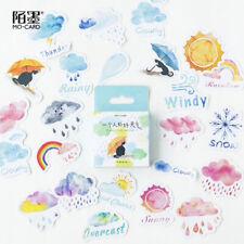 Travel Sticker Weather Sun Cloud DIY Journal Diary Scrapbooking Craft 45pcs