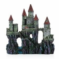 Blue Aquarium Decorations Medieval Tower Castle Ornament Cave Fish Planted Tank