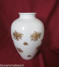 Heinrich Porzellan  - Große Vase 25 cm - Golddekor, Gold-Blumen - TOP-Erhaltung