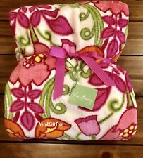 Vera Bradley COZY Throw Blanket LILLI BELL Super-RARE NWT PINK Floral GIFT NWT