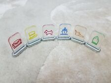 Monopoly Zapped by Hasbro Spare/Replacement Set of 6 Tokens/Movers - Free P&P!