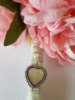 Super Wedding Bouquet Charm Heart Shaped Silver Pendant Locket &Organza Gift bag