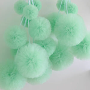 14 Tulle  pompom party set / party wedding birthday  decorations