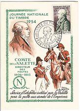 CARTE MAXIMUM TIMBRE FRANCE N° 969 COMTE DE LA VALETTE 1954