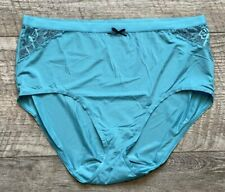 NEW CACIQUE LANE BRYANT TURQUOISE LACE NO SHOW FULL BRIEF PANTY UNDERWEAR 18/20