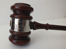 VINTAGE AUTOMOTIVE BOOSTER CLUBS INT'L WOOD/SILVER GAVEL MALLET
