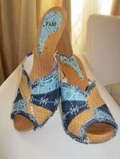 Trend 2017 FABI Shoes Sabot Zoccoli pelle pitone Phyton denim patchwork €560 New