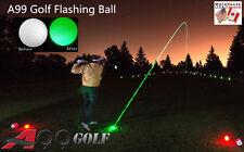 3pcs Green Twilight Tracer Light-up Flashing LED Electronic Golf Ball w/logo
