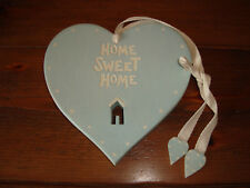 EAST OF INDIA WOODEN  SHABBY CHIC DUCKEGG HOME SWEET HOME PLAQUE