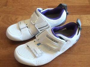 Shimano SH-TR5W Triatholon Road Shoes Clipless Womens EUR 37 US 5.5 White