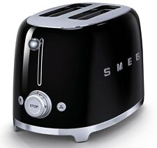 SMEG TOSTAPANE DUE FETTE NERO VINTAGE TOASTER TOST TOP QUALITA' MADE IN ITALY