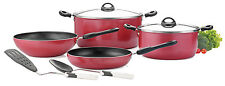 Premier Non Stick 8 Piece set of Stewpot / Wok / Frypan / Nylon Spoon / SS Lid