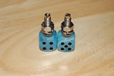 DUDDS DICE ICE BLUE SWIRL w/BLACK DOTS LICENSE PLATE BOLTS (SET OF 2)