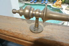 "1 large DOOR handle pulls solid SPUN brass vintage aged old style 12 ""B"