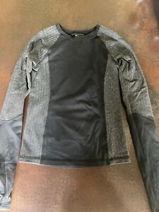 Ivivva Gray /Black Long Sleeve Shirt  8 EUC