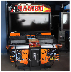 Commercial 3D Rambo Shooting Coin Operated Arcade Interactive Sound Video Game