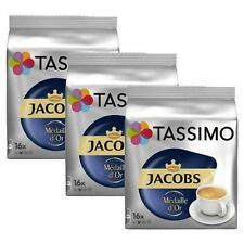 3 Packs Tassimo Jacobs Médaille D'Or T Discs Pods 48 T Discs 48 Drinks Medaille