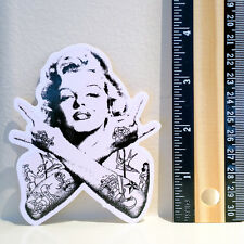 "Marilyn Monroe vintage tattoo punk rock 4x3"" Decal sticker #4002"