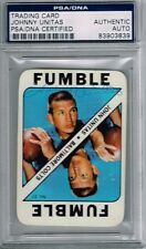 1971 Topps Johnny Unitas Signed Auto Card Colts PSA/DNA 83903839