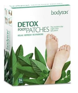 UK Bodytox All-In-One Detox FOOT PATCHES 14 Pack - Absorb Toxins, Cleanse, Renew