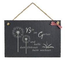 Schild m. Spruch witzig Garten Schiefertafel Geburtstag Wanddekoration Geschenk
