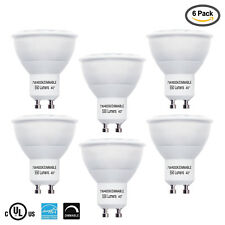 LED 50W Equiv. GU10 Daylight Bulb, 6 Pack, Dimmable