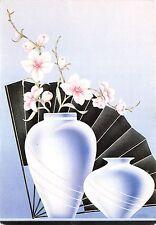 B50699 Fleurs Flowers  painting art postcard