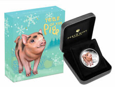 2019 P Australia Year of the Pig Baby Pig 1/2 oz Proof Silver Lunar S2 SKU55938
