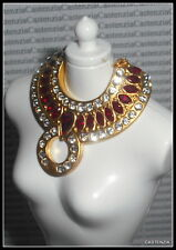 JEWELRY  BARBIE DOLL COUNTESS OF RUBIES GLAMOUR SWAROVSKI CRYSTALS NECKLACE