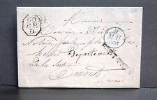 PLI PORT PAYE + CACHET BLEU DU 9 AVRIL 1831 + OCTOGONAL : 00 P.P. D - AVEC TEXTE