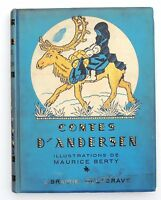 CONTES D'ANDERSEN. Illustrations Maurice  BERTY. Delagrave 1930. cartonnage