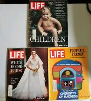 Vintage Life Magazines 1971 Tricia Nixon Bride Children Football Frenzy Madness