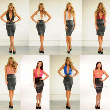Faux Leather Stretch, Bodycon Dresses for Women