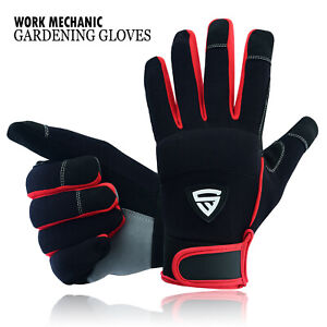 Safety Work Gloves Heavy duty Mechanic Gardening Builders Cut Hand Protection